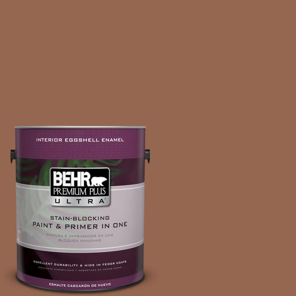BEHR Premium Plus Ultra 1-gal. #240F-6 Sable Brown Eggshell Enamel Interior Paint