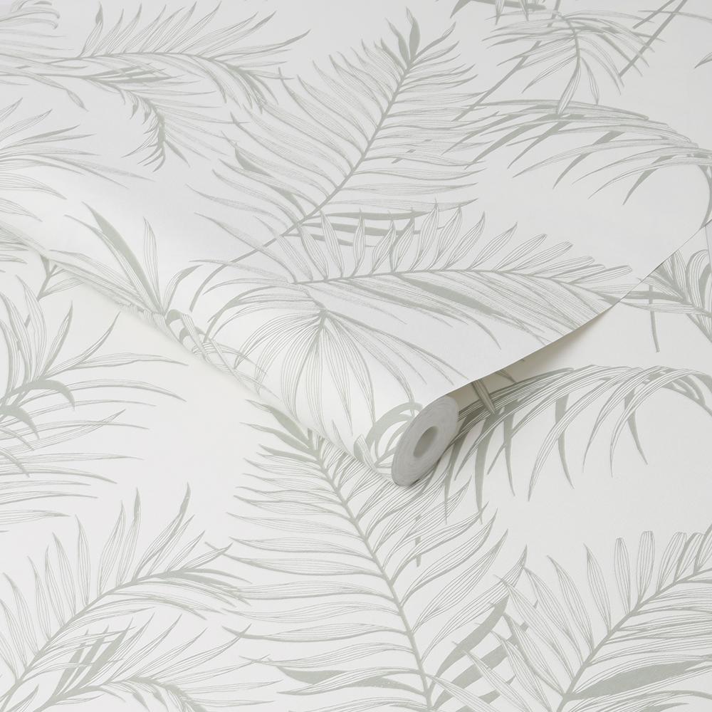 Sale Special Superfresco Leaf Light Grey//Green Floral Wallpaper Was £9