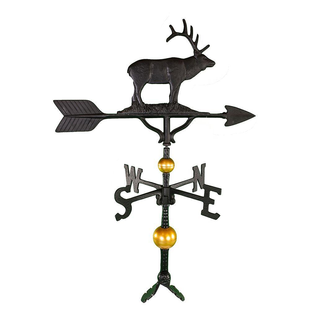 32 in. Deluxe Black Elk Weathervane