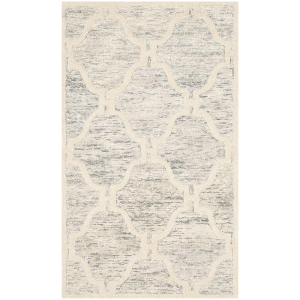 Cambridge Light Gray/Ivory 3 ft. x 5 ft. Area Rug