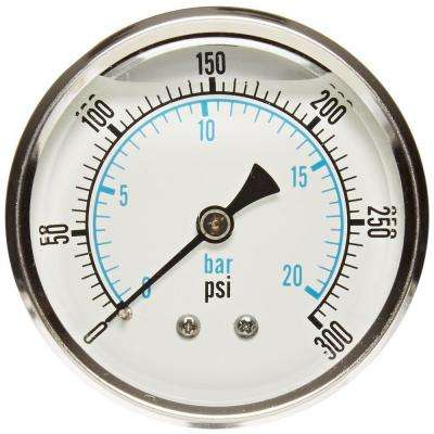 300 psi Back Mount Glycerin Filled Pressure Gauge