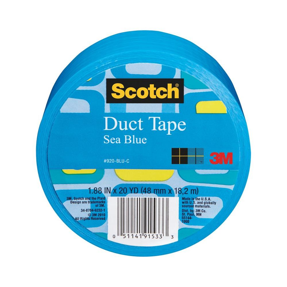 Scotch 1.88 in. x 20 yds. Blue Duct Tape (Case of