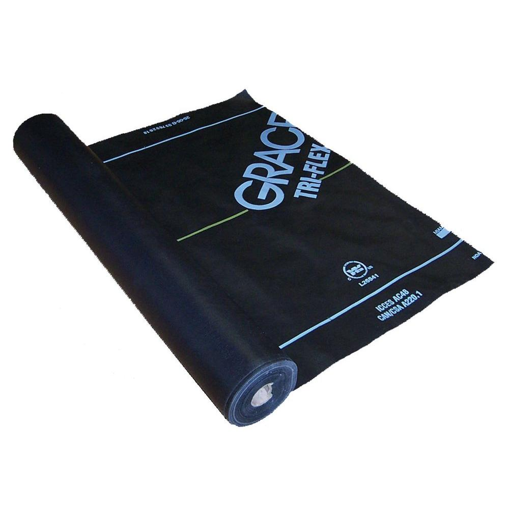 Grace Tri-Flex 48 in. x 250 ft. Synthetic Roll Roofing Underlayment