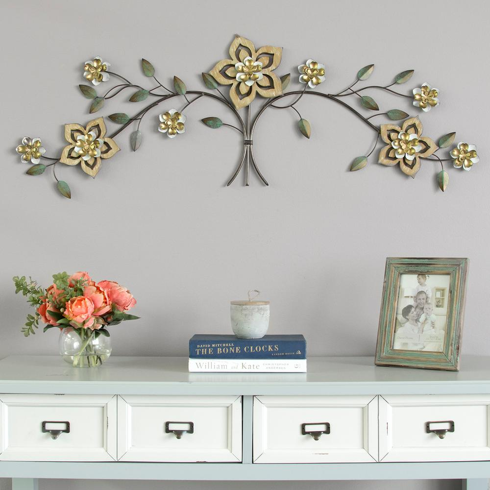 Stratton home decor metal flower wall decor multicolor for Stratton house