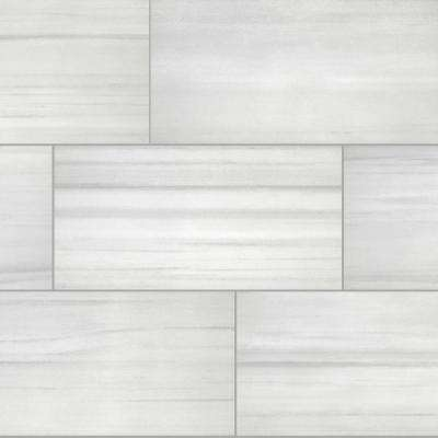 Milano Lasa White Rectified 12 in. x 24 in. Porcelain Floor and Wall Tile (425.6 sq. ft. / pallet)