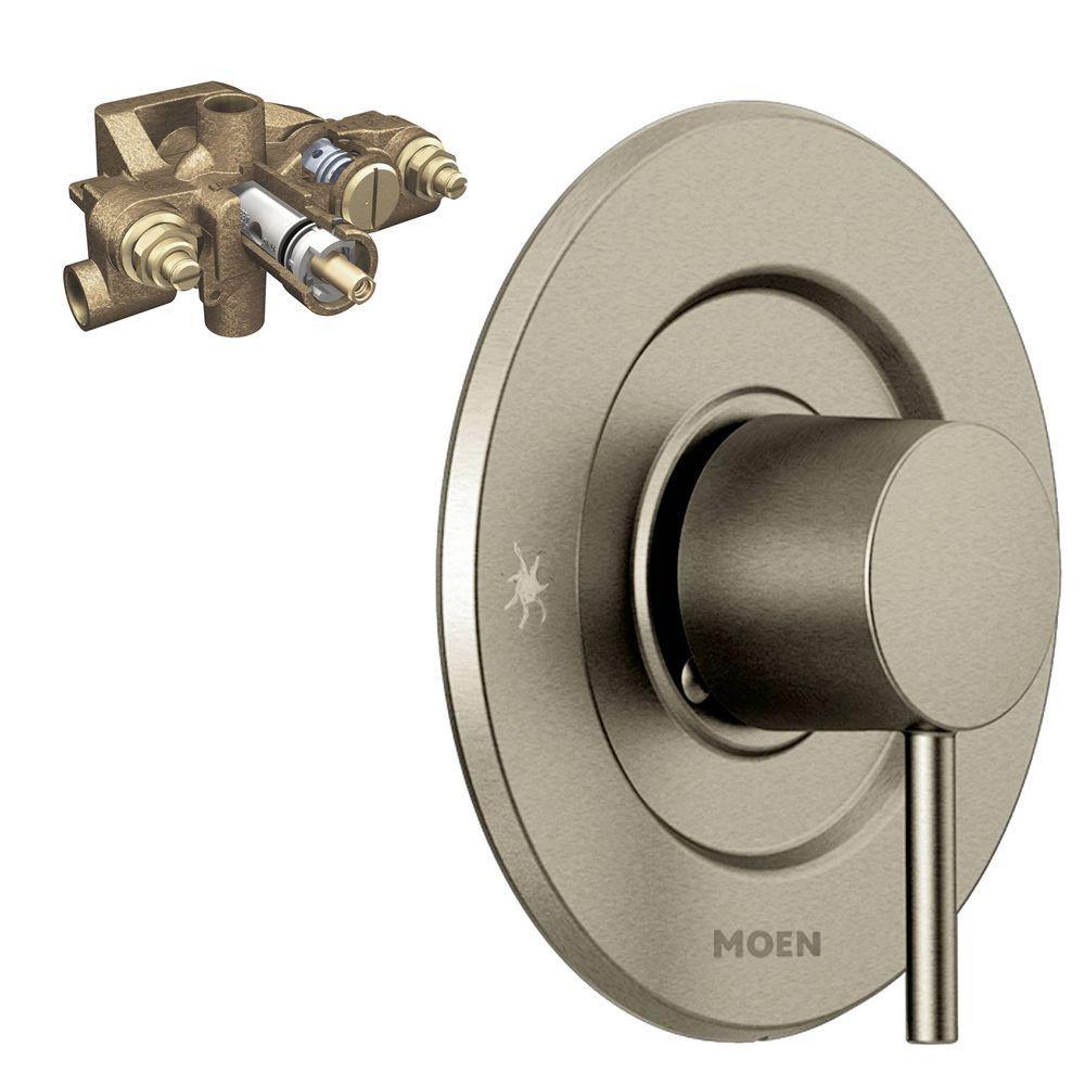 Align Single-Handle Moentrol Valve Trim Kit in Brushed Nickel (Valve Included)