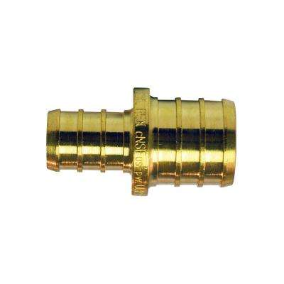 3/4 in. x 1/2 in. Brass PEX Barb Reducing Coupling