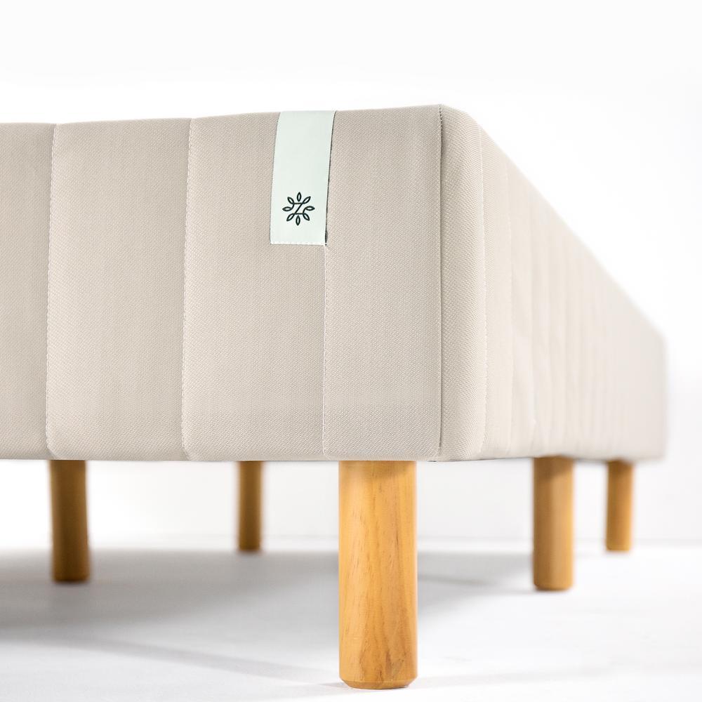 Good Design Winner Beige Metal Full 16 in. Mattress Foundation