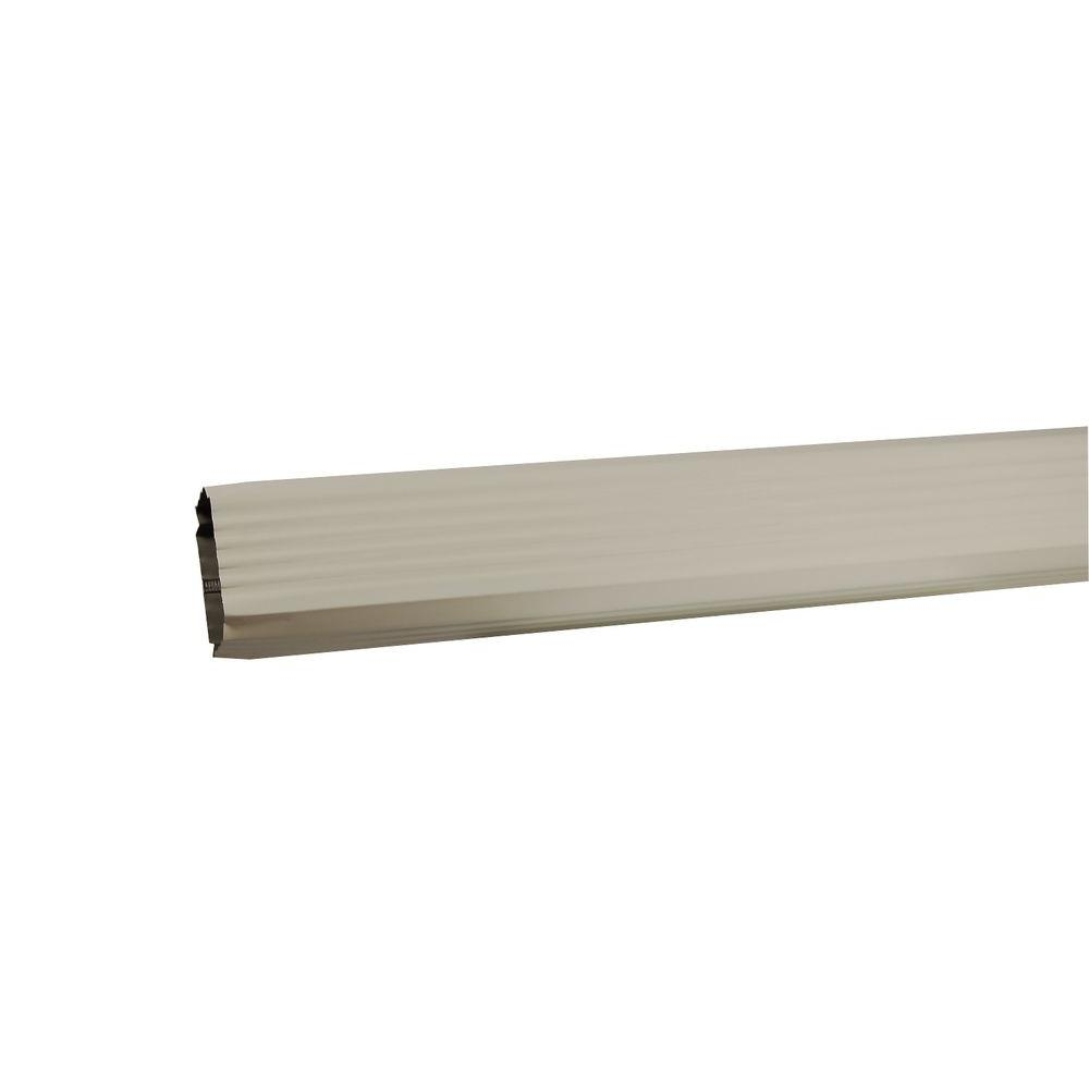 Amerimax Home Products 2 in. x 3 in. x 120 in. Bone Linen Aluminum Downspout