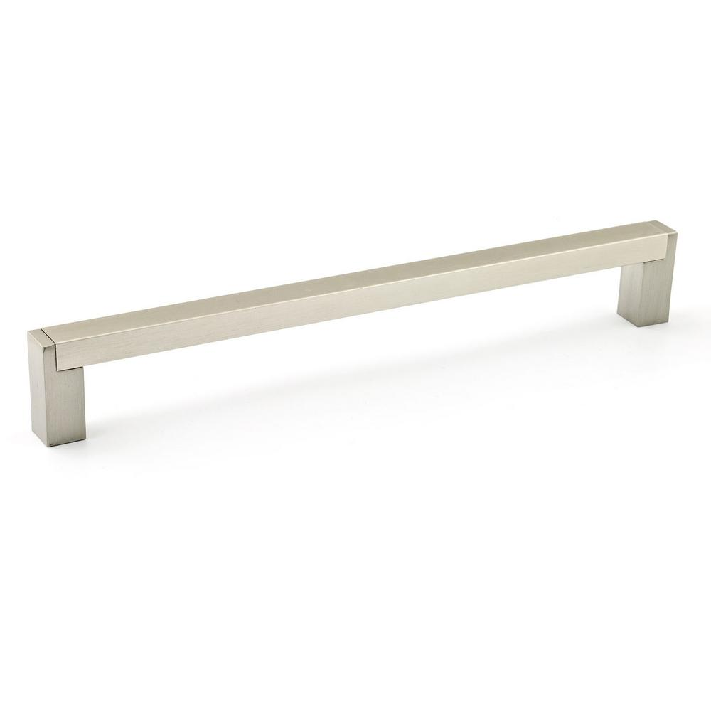 Richelieu Hardware 7-9/16 in. (192 mm) Center-to-Center Brushed Nickel Contemporary Drawer Pull