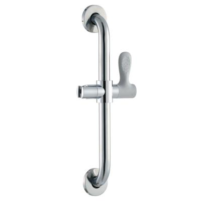 18 in. x 1-1/4 in. Concealed Screw ADA Compliant Grab Bar with Adjustable Hand Shower Holder in Chrome