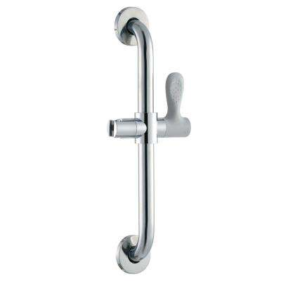 18 in. x 1-1/4 in. Concealed Screw Grab Bar with Adjustable Hand Shower Holder in Chrome