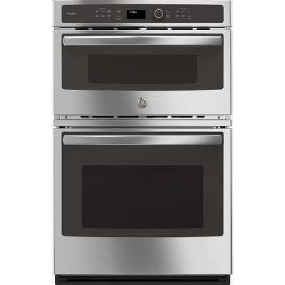 Profile 27 in. Double Electric Wall Oven with Convection Self-Cleaning and Built-In Microwave in Stainless Steel