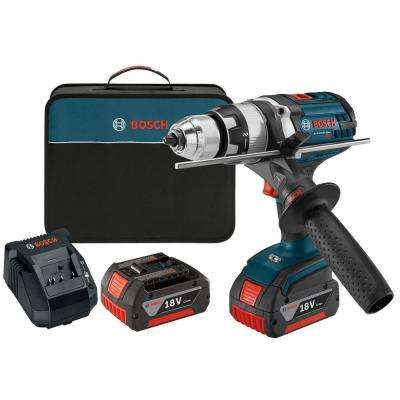 18 Volt Lithium-Ion Cordless 1/2 in. Variable Speed Brute Tough Hammer Drill/Driver Kit