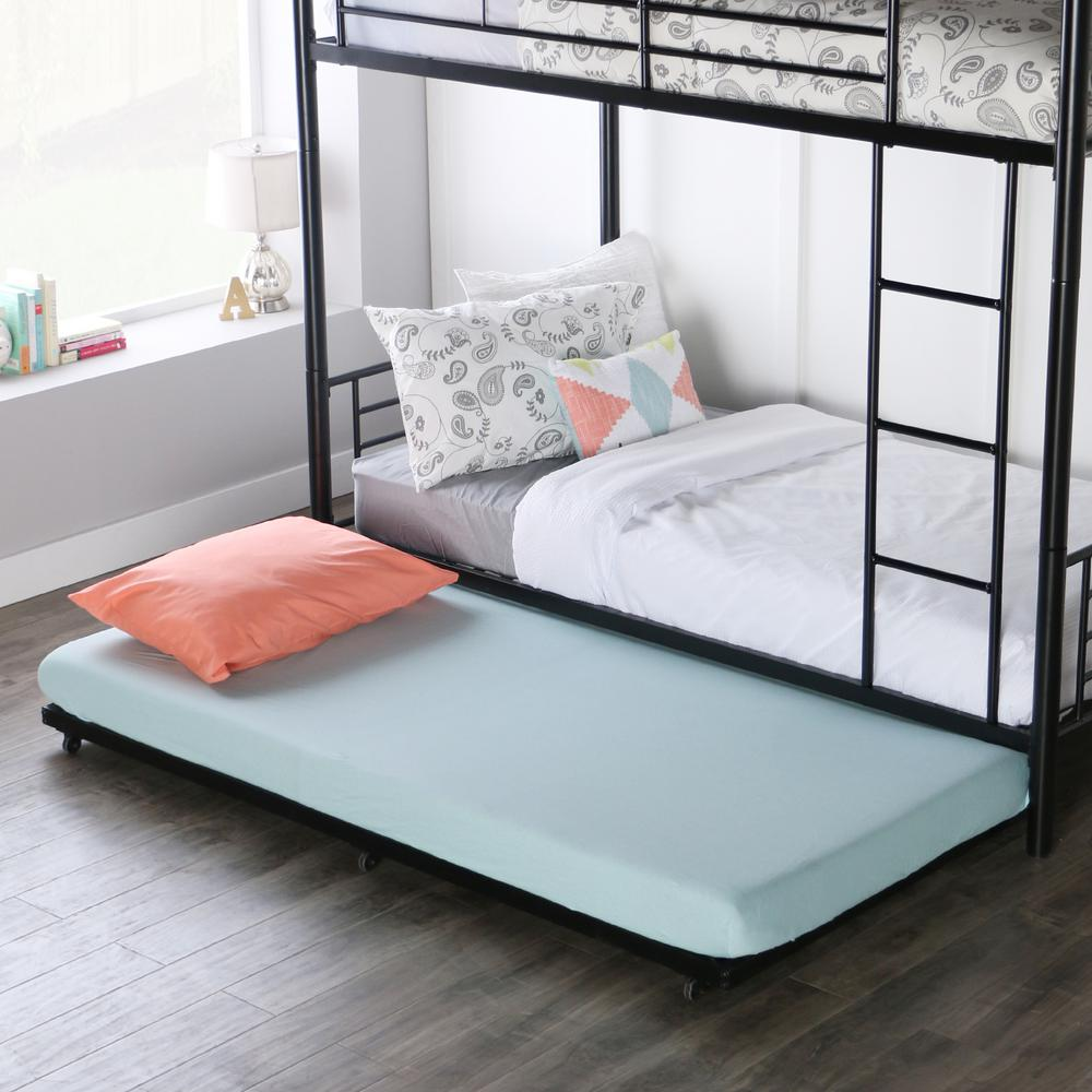 Walker Edison Furniture Company Twin Metal Trundle Bed Frame ...