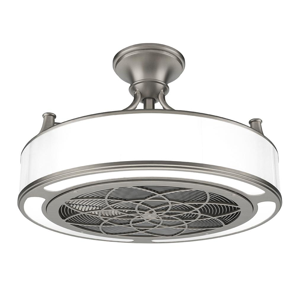Anderson 22 in led indooroutdoor brushed nickel ceiling fan with led indooroutdoor brushed nickel ceiling fan with remote control cf0110 the home depot aloadofball Image collections
