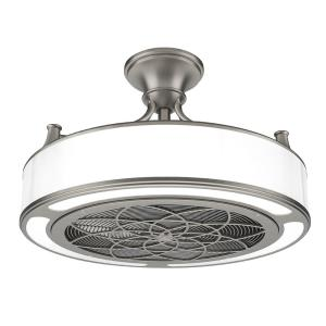 Anderson 22 in led indooroutdoor brushed nickel ceiling fan with led indooroutdoor brushed nickel ceiling fan with remote control cf0110 the home depot aloadofball Gallery