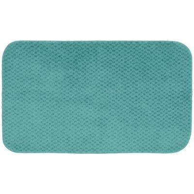 Cabernet Sea Foam 24 in. x 40 in. Washable Bathroom Accent Rug