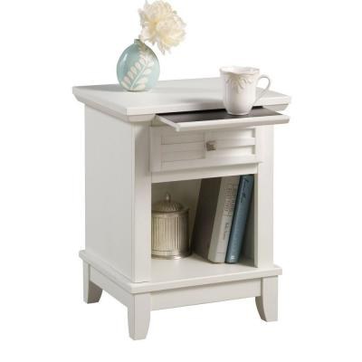 Arts and Crafts 1-Drawer White Nightstand