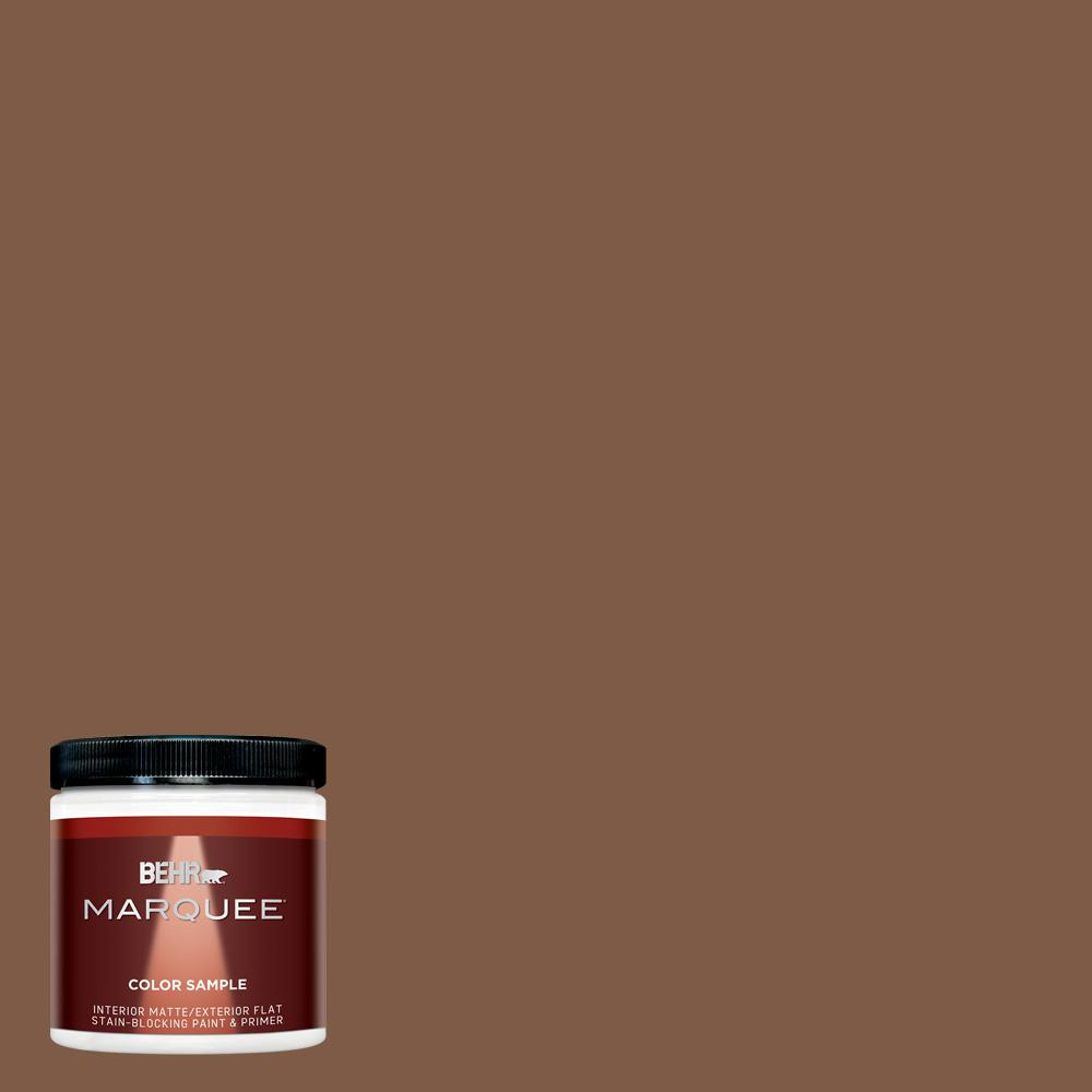 BEHR MARQUEE 8 oz. #T12-2 Stagecoach Matte Interior/Exterior Paint Sample, Browns/Tans
