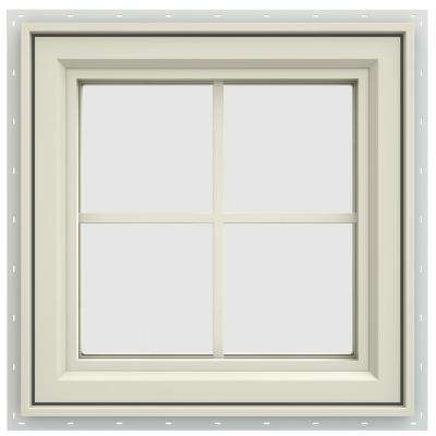 23.5 in. x 23.5 in. V-4500 Series Right-Hand Casement Vinyl Window with Grids - Yellow