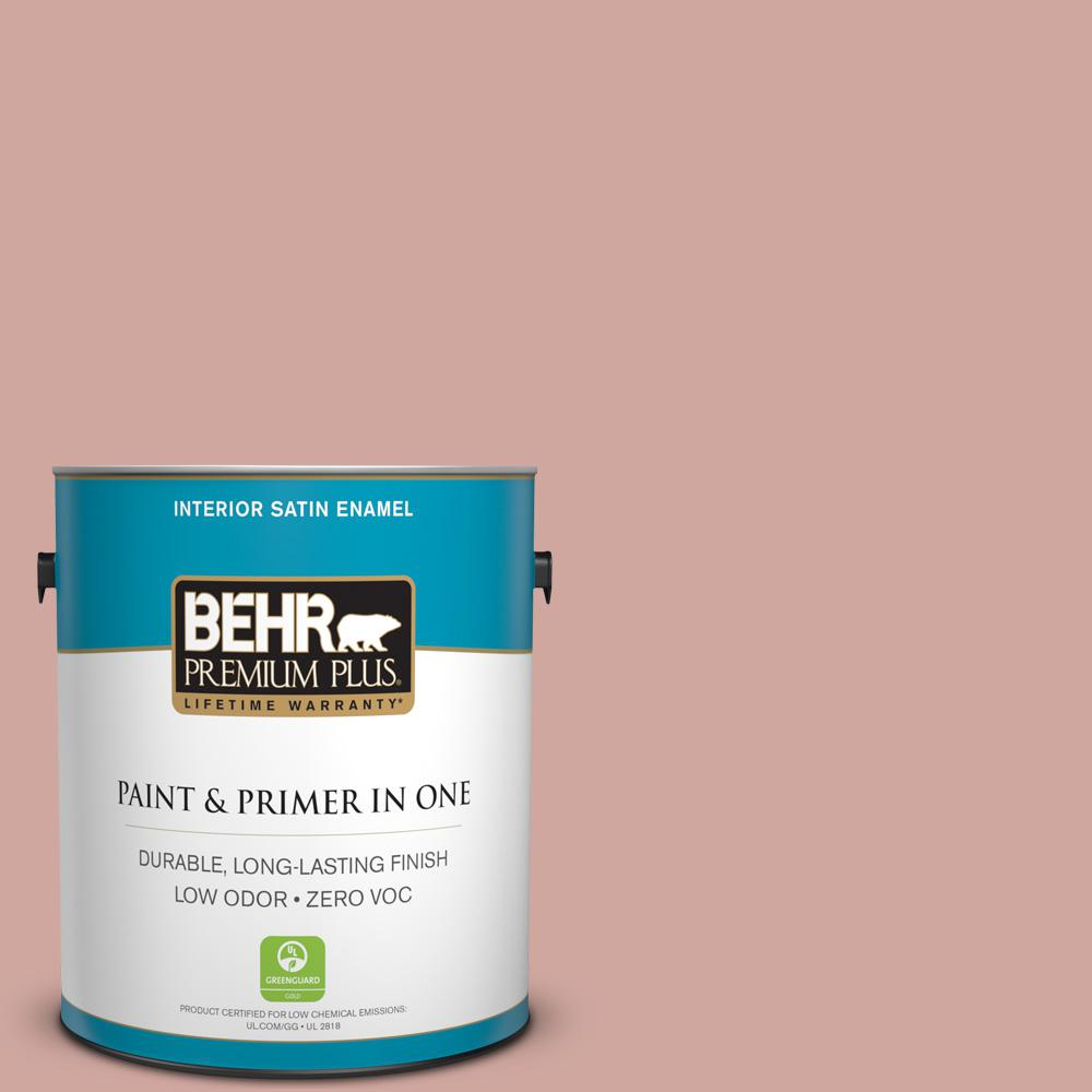 1-gal. #200E-3 Cinnamon Cocoa Zero VOC Satin Enamel Interior Paint