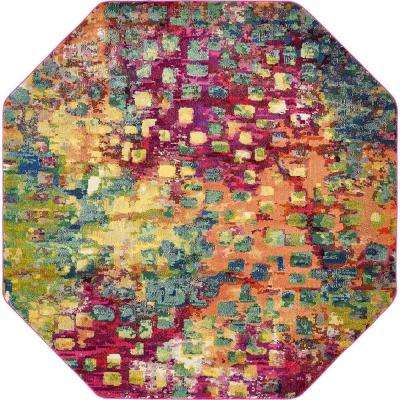 Abstract Multicolor Barcelona 8 ft. x 8 ft. Area Rug