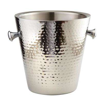 Hammered Stainless Steel Double Wall Champagne and Wine Cooler