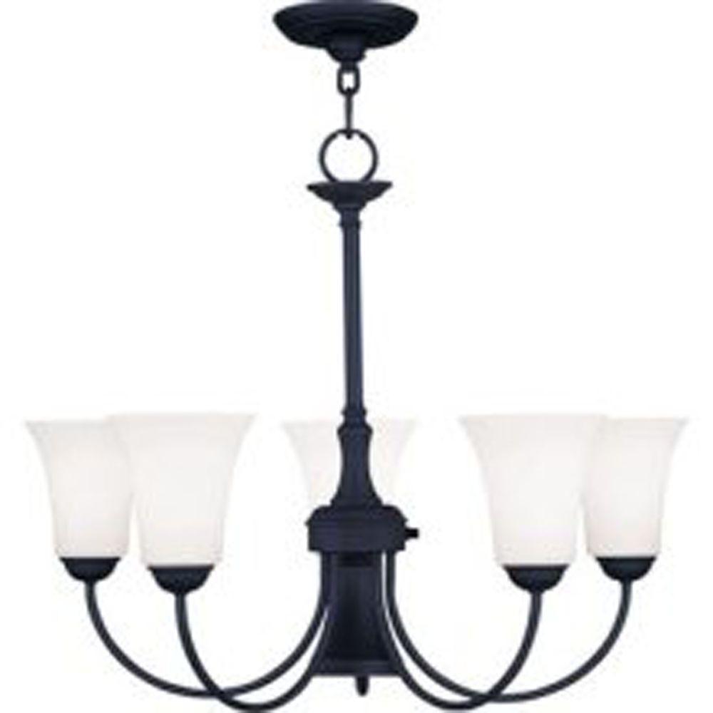 Ridgedale 6 -Light Black Incandescent Ceiling Chandelier