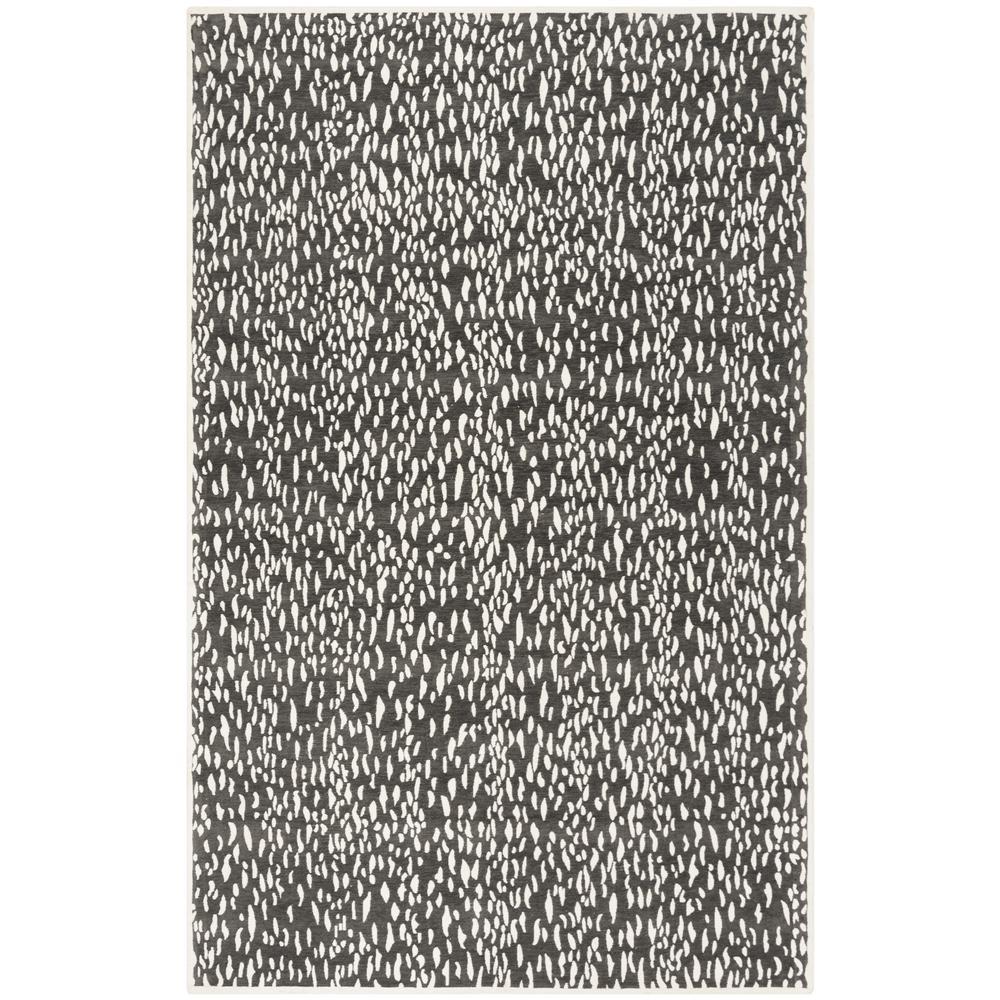 Marbella Dark Gray/Ivory 5 ft. x 8 ft. Area Rug