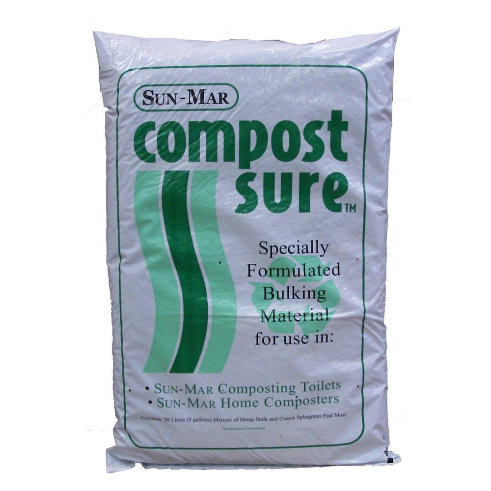 Sun-Mar Waterless Toilet Compost Starter and Compost Sure - Green ...