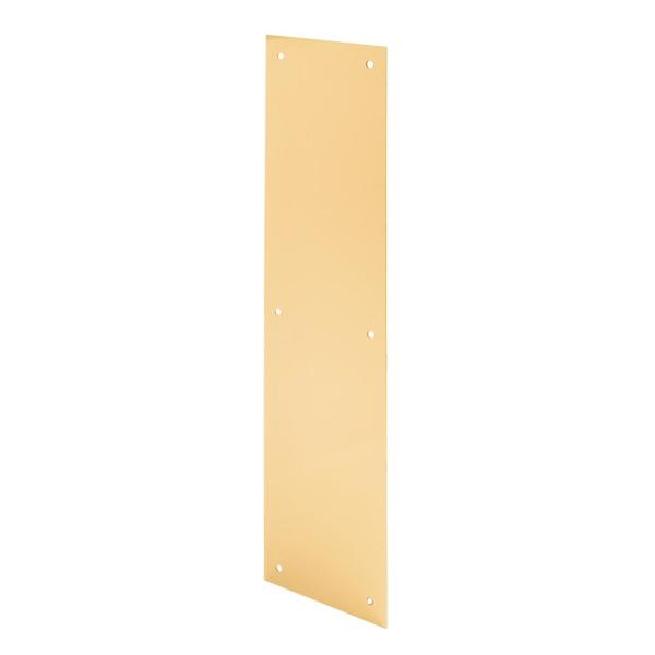 4 in. x 16 in. Polished Brass Push Plate