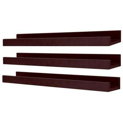 Edge 23 in. W x 4 in. D Espresso Picture Frame Ledge (Pack of 3)