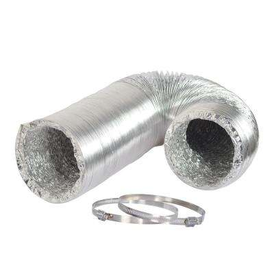 10 in. x 25 ft. Non-Insulated Flexible Aluminum Ducting with Duct Clamps