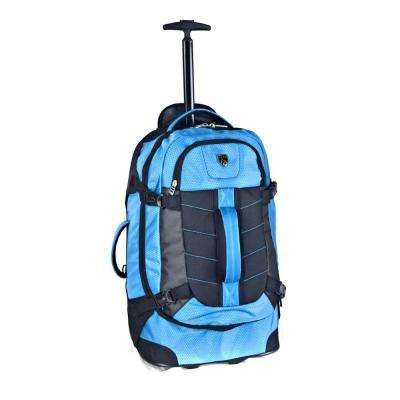 21 in. Blue Multi-Pocket Rolling Backpack with Computer Section