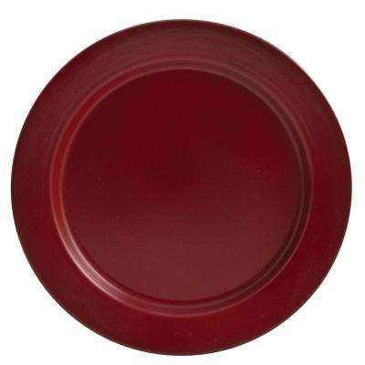 Linville Red Enamel Dinner Plate (Set of 4)