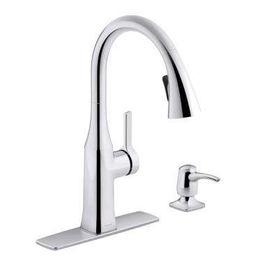 Rubicon Single-Handle Pull-Down Sprayer Kitchen Faucet in Polished Chrome