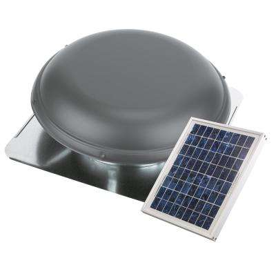 800 CFM 10-Watt Solar Powered Exhaust Roof Mount Attic Ventilator