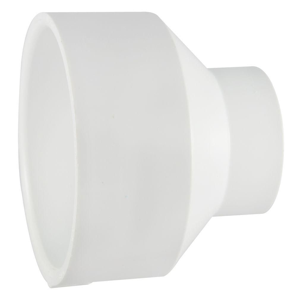Nibco 4 in. x 3 in. PVC DWV Hub x Hub Reducing Coupling