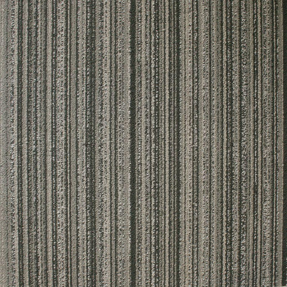 EuroTile Crown Heights Slate Loop 19.7 in. x 19.7 in. Carpet Tile (20 Piece/Case)