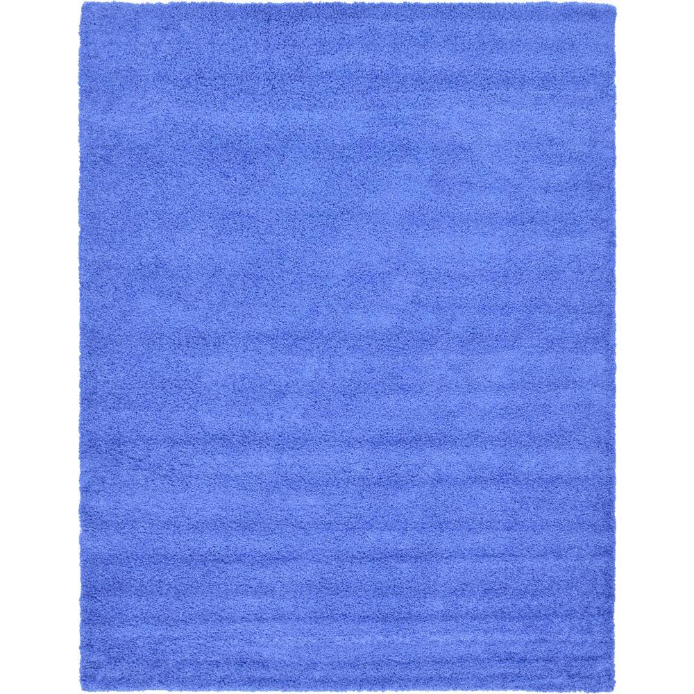 Unique Loom Solid Shag Periwinkle Blue 12 Ft X 15 Ft