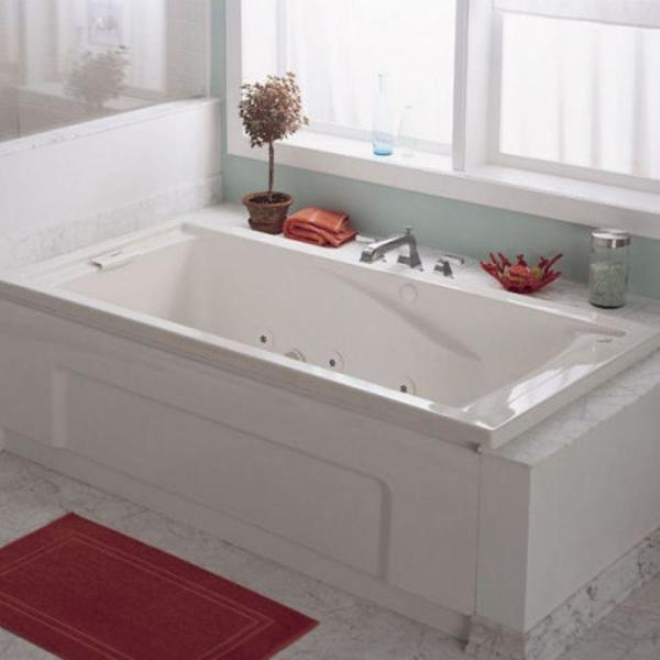 American Standard Evolution 60 In X 32 In Whirlpool Tub With Everclean In White 2422vc 020 The Home Depot
