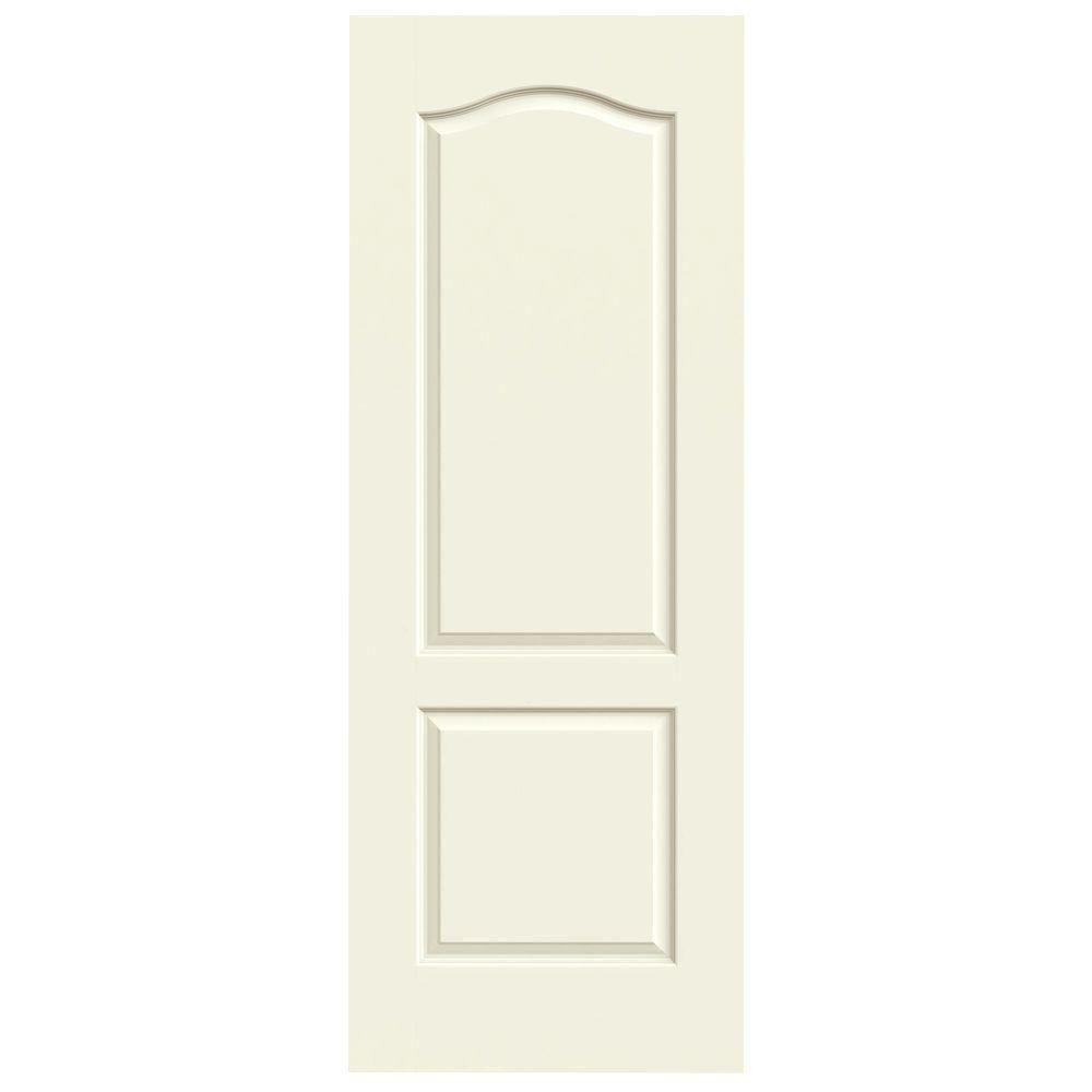 Jeld wen 36 in x 80 in princeton vanilla painted smooth for Solid core mdf interior doors