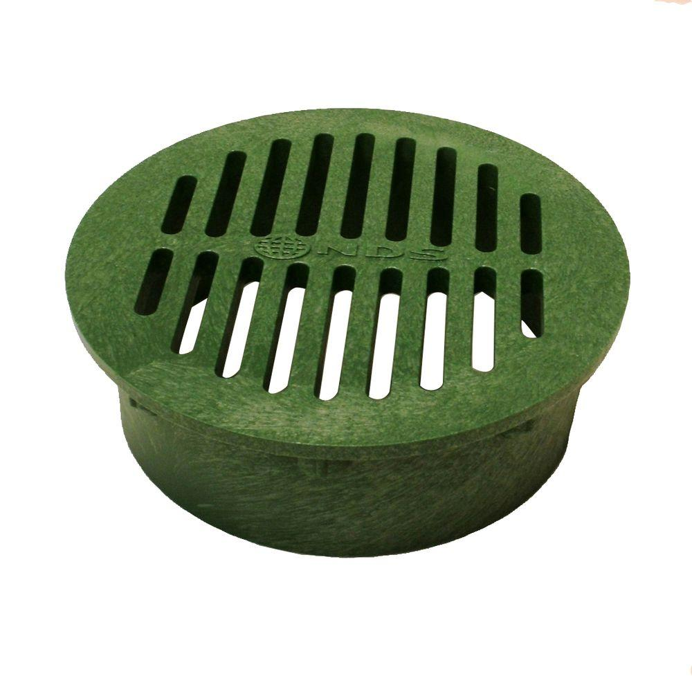 NDS 6 in. Plastic Round Drainage Grate in Green