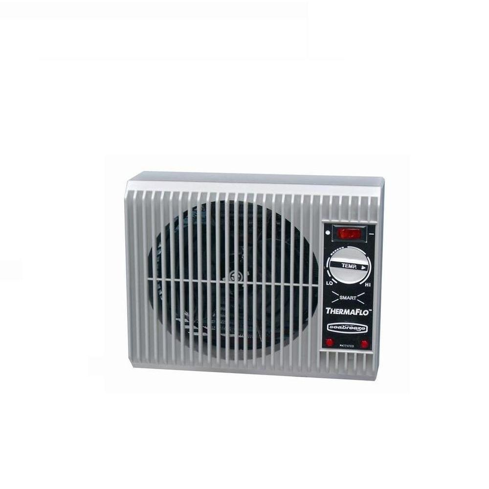 Seabreeze Off-the-Wall 1500-Watt Convection Smart ThermaFlo Electric Portable Heater