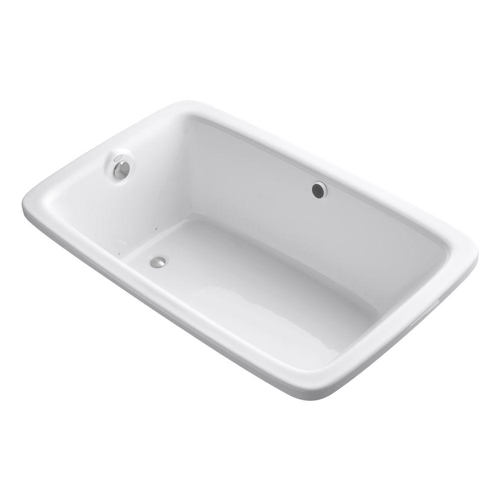 KOHLER Bancroft 5.5 ft. Acrylic Rectangular Drop-in Whirlpool Bathtub in White