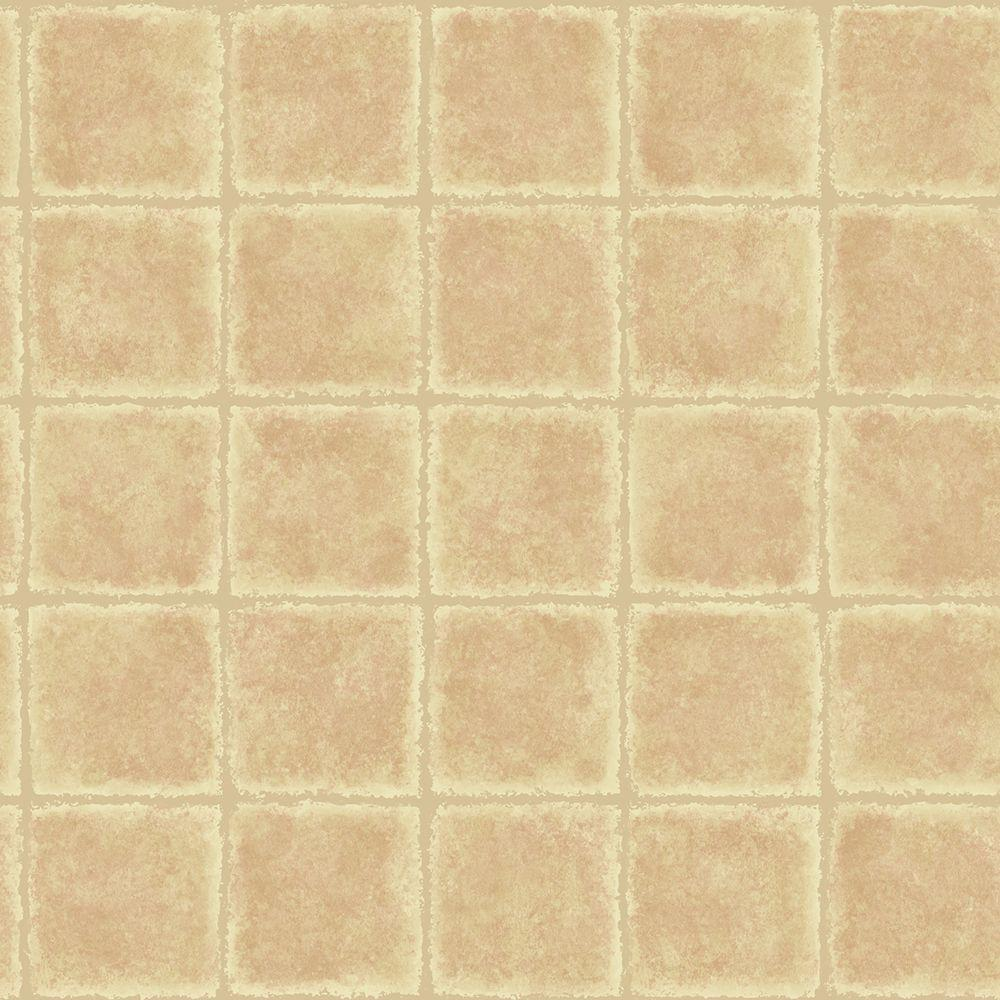Chesapeake Gold Leaf Rust Tile Texture Wallpaper Sample