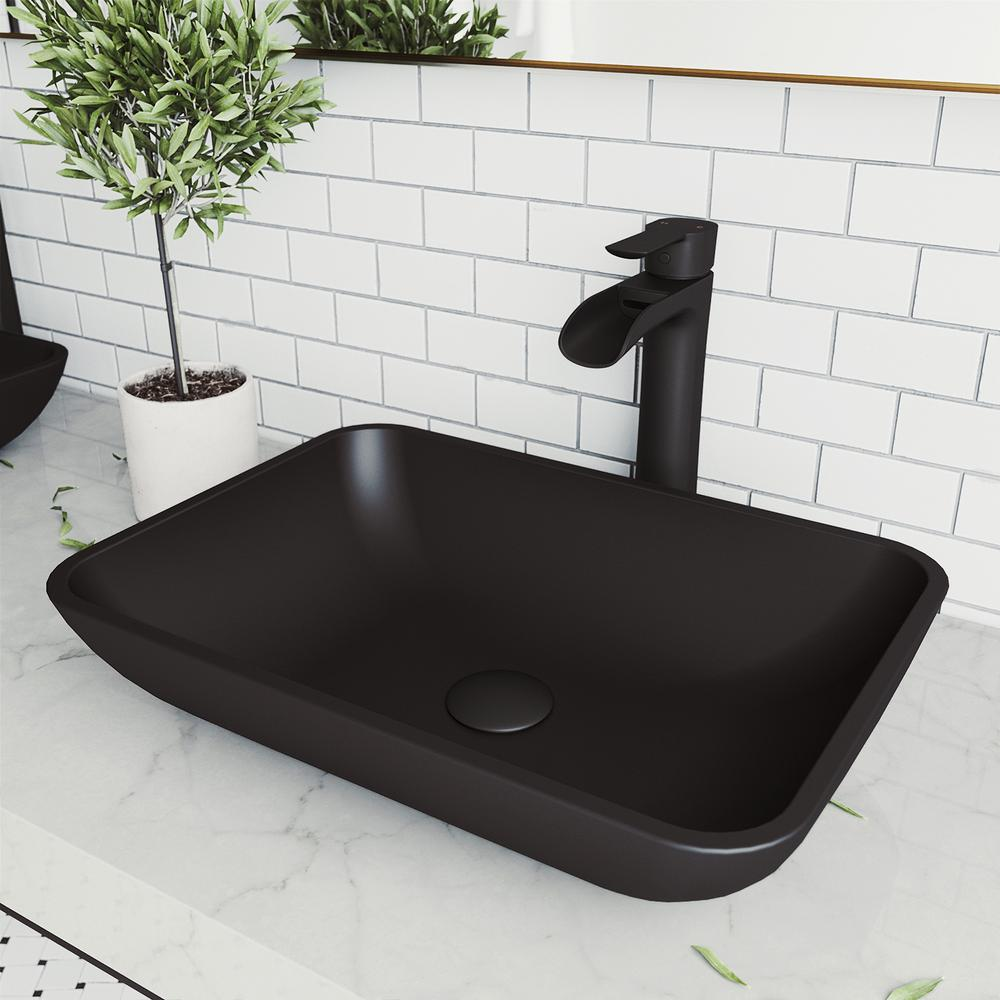 Vigo Sottile Gl Vessel Bathroom Sink
