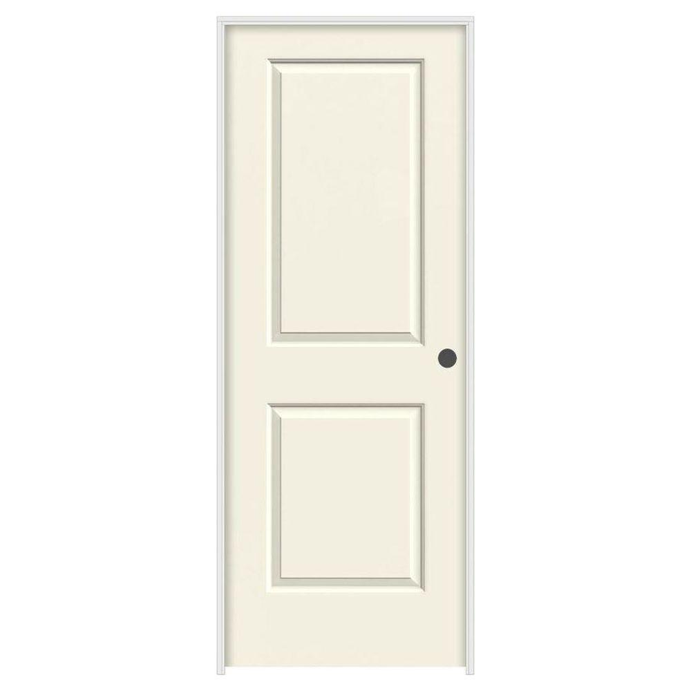 home depot jeld wen interior doors jeld wen 24 in x 80 in cambridge vanilla painted left 26758