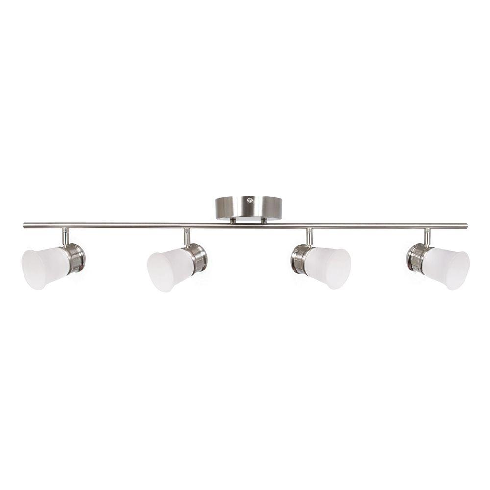 Seneca 4-Light Satin Nickel LED Fixed Track Lighting